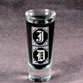 Monogrammed Shot Glasses, Groomsmen Gifts