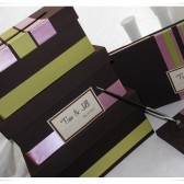 simple brown wedding card box
