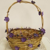 Flower Girl Basket with purple details