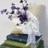 Ring Bearer Pillow with purple details