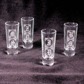 Monogrammed Shot Glasses, Gifts for Groomsmen