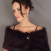 Black Wrap Faux Fur