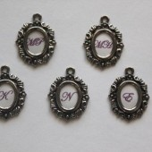 Damask Matching Bridesmaid Bouquet Charms
