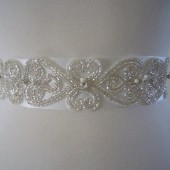 Anais Ribbon Sash - Bridal White