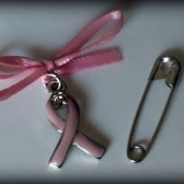 Pink Ribbon Awareness Bouquet Charm