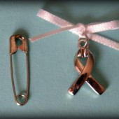 Cancer Awareness Ribbon Bouquet Charm