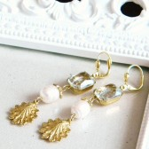 Vintage German Rhinestone and Pearl Earrings