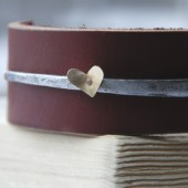 Heart Bracelet Antique Barn Nail And Leather