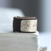 Men's Leather And Brass Ring