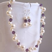 Bridesmaid woven floating pearl set