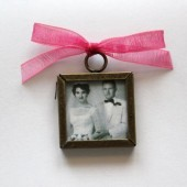 Square Double Sided Photo Frame Charm
