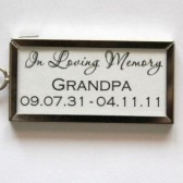 Rectangle Double Sided Photo Frame Charm