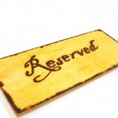 Rustic Chair Sign or Pew Marker
