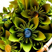 Green Kusudama Flower Bouquet/Centerpiece