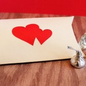 Double Heart Favor Pillow Box