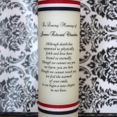 Memorial Candle for Military Veteran