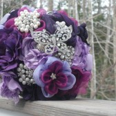 Satin and Brooch Bouquet