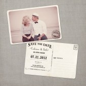 Cadence - Vintage Save the Date Postcard