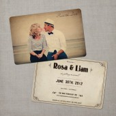 Rosa - Vintage Save the Date Card