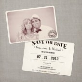 Genevieve - Vintage Save the Date Card