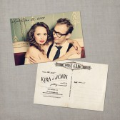 Kira - Vintage Save the Date Postcard