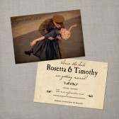 Listing Tools     Edit     Promote     Copy  Rosetta - Vintage Save the Date Card