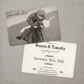 Etta - Vintage Save the Date Card