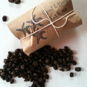 Coffee Gifts for Beach Wedding with Custom Stamp