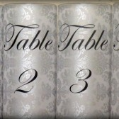 Table Number Luminaries