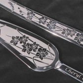 Orchid Wedding Cake Server Set