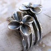 Flower Stacking Ring Set