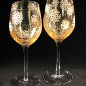 Winter Wonderland Wedding Wine Glasses
