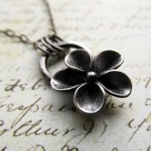 Sculpted Flower Necklace