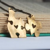 Puzzle Piece Bridesmaid Necklaces