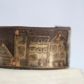 Our Town Etched Brass Bracelet