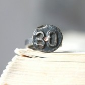 Antique Date Nail Ring
