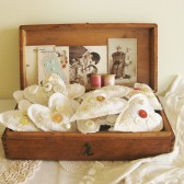 Vintage Linen & Lace Hearts Favors