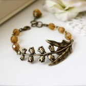 A Lilly of the Valley Bracelet. Fall, Winter Inspired.