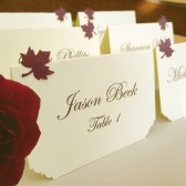 Place Cards - Delicate leaves