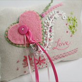 Embroidered Ring Pillow