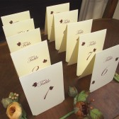 Table numbers - Delicate leaves