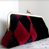 Harlequin Velvet Purse