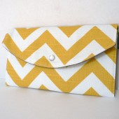 Yellow and Grey lined Chevron