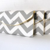 Grey and  Yellow Lined Chevron set
