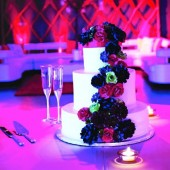 "The Cake Topper - Handmade Paper Flowers also available for ""cascade"" effect - Designed by Dragonfly Expression"