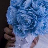 Baby Blue Pearl Wedding Bouquet