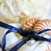 Beach Wedding Double Ringer Bearer - Nautilus Shell Ring Bearer Pillows