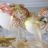 Beach Wedding Matching Nautilus Shell Flower Girl Shell Basket and Nautilus Shell Ring Bearer Pillow