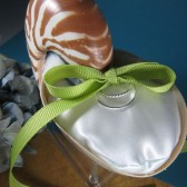 Beach Wedding Natural Nautilus Shell Ring Bearer Pillow