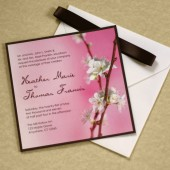 Cherry Blossom Branch Wedding Invitation